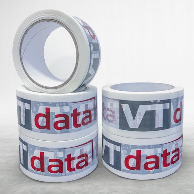 Adhesive custom printed packing pvc tape VT data