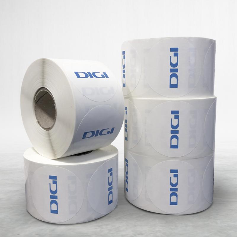Labels on a reel DIGI