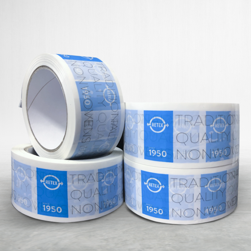 Adhesive custom printed packing pvc tape Retex