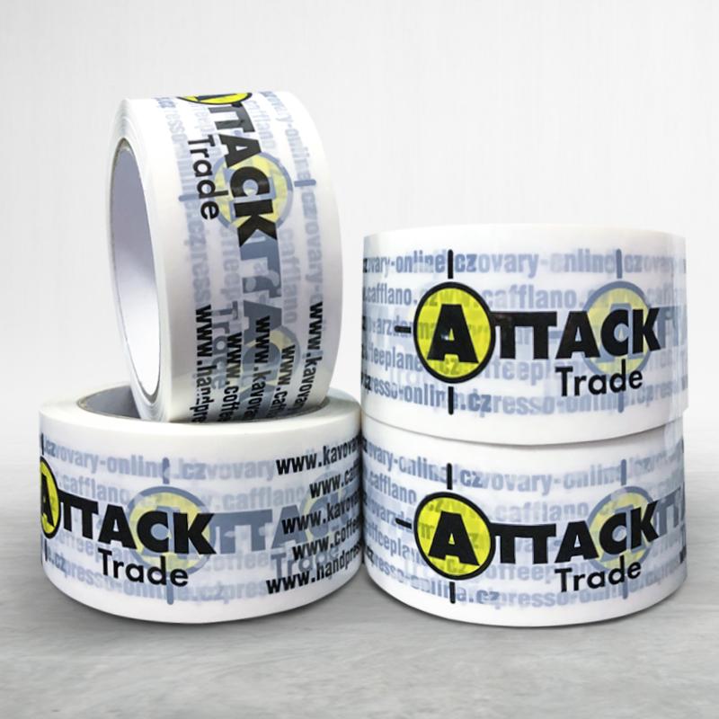 Lepící páska s potiskem Attack Trade
