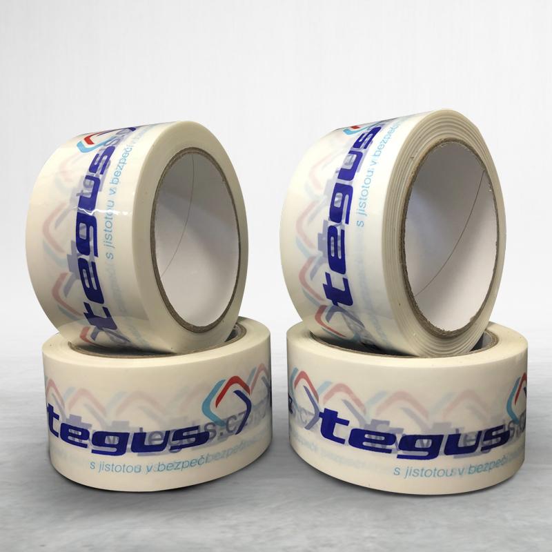 Adhesive custom printed packing bopp tape Tegus