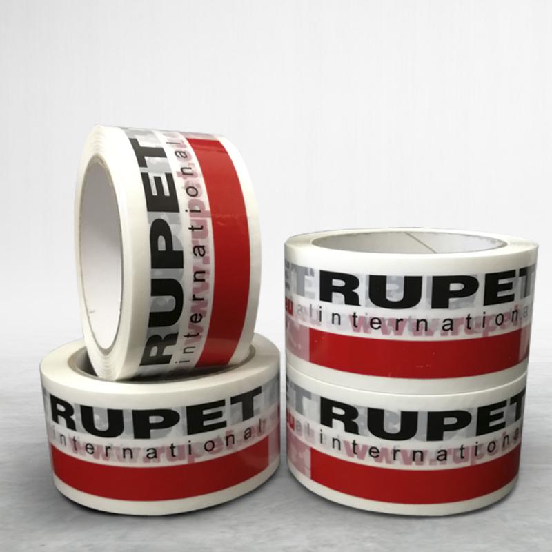 Adhesive custom printed packing pvc tape Rupet