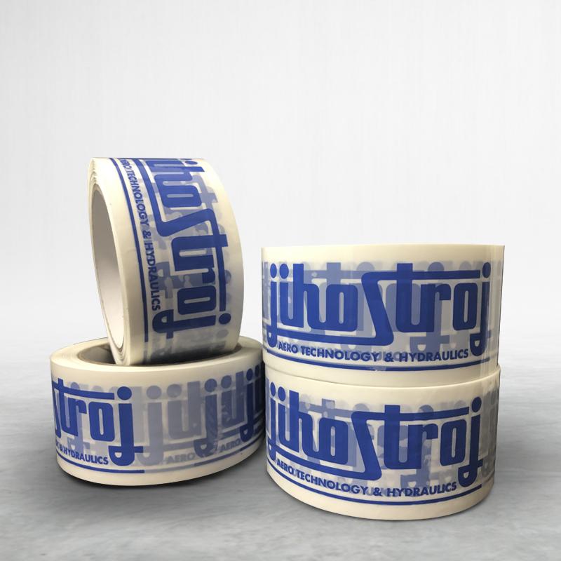 Adhesive custom printed packing pvc tape