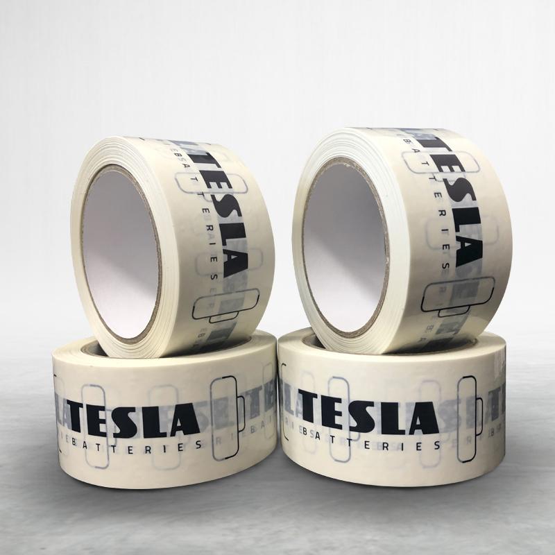 Reklamní lepící páska s potiskem Tesla