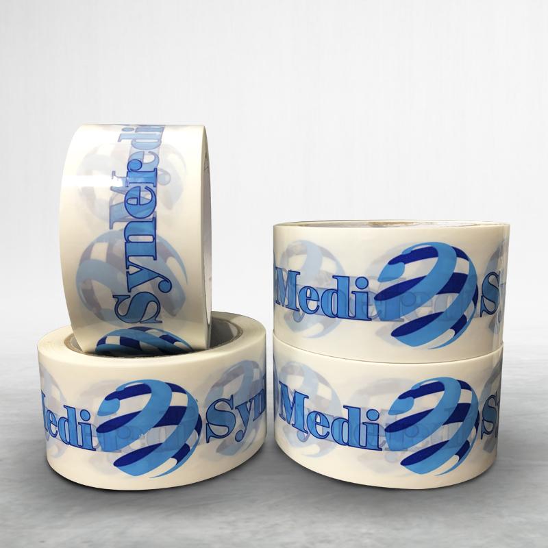Reklamní balící lepící páska s potiskem Medi Syner