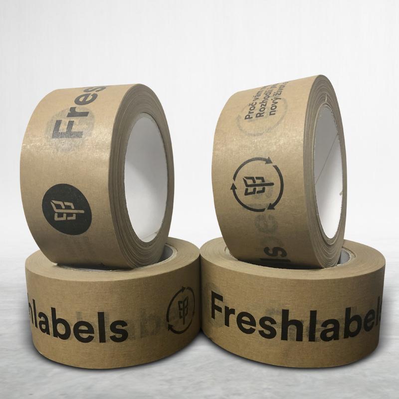 Adhesive custom printed packing paper tape Freshlabels