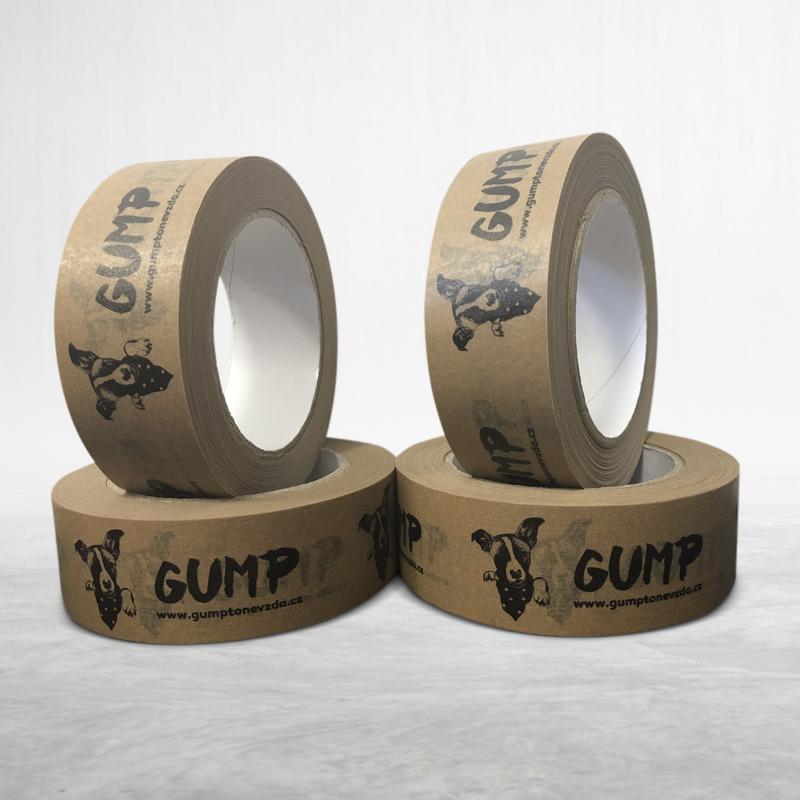 Papírová páska s vlastním potiskem Gump