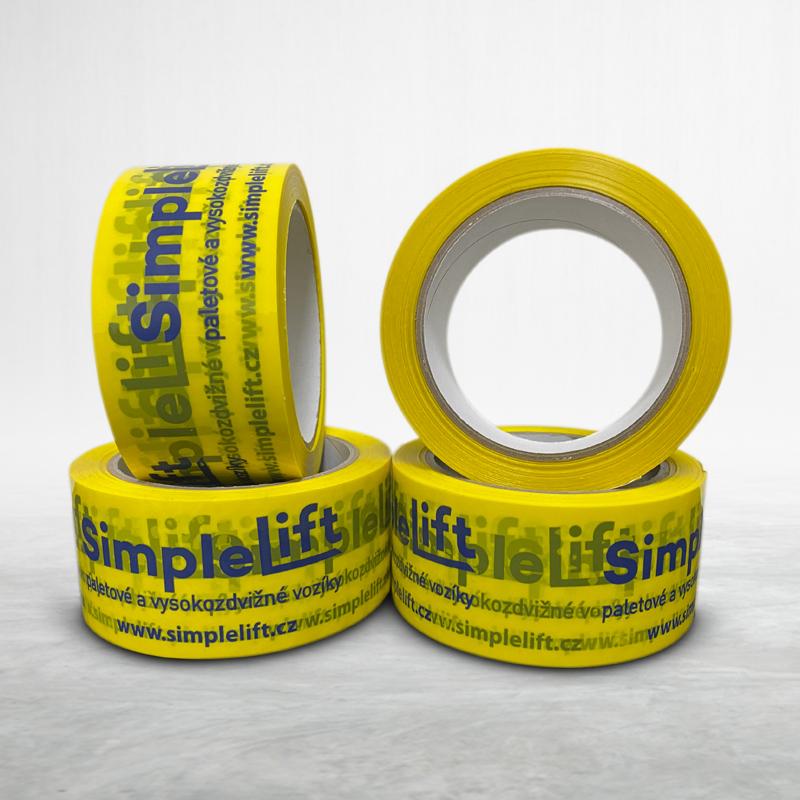 Adhesive custom printed packing pvc tape SimpleLift