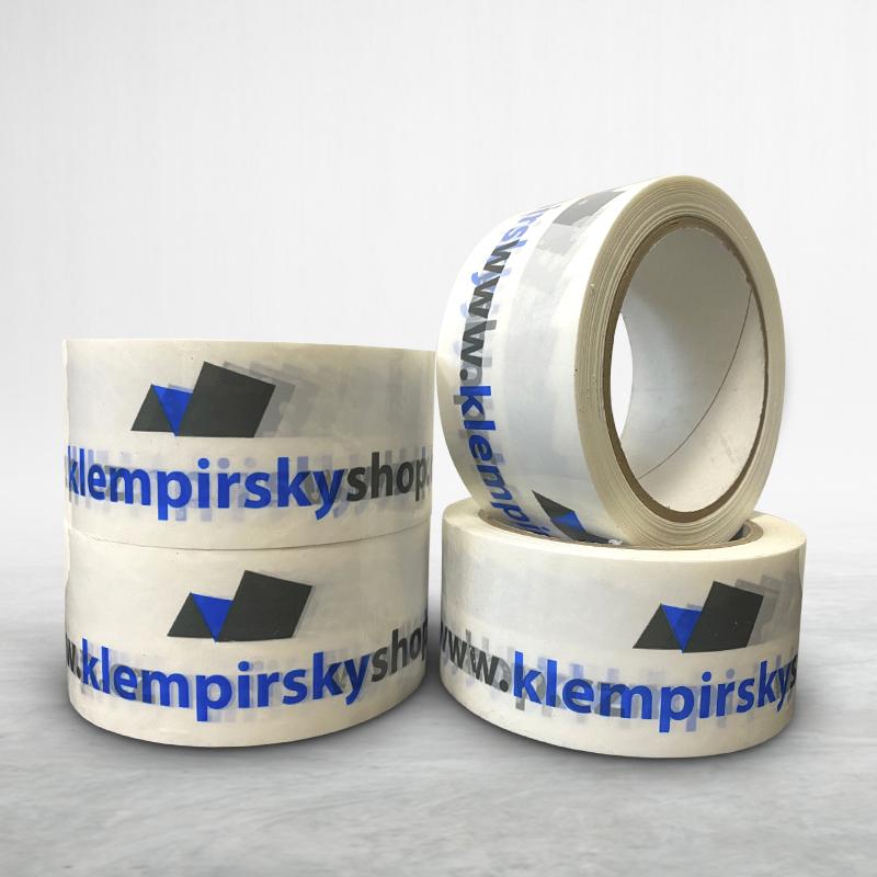 Reklamní balící lepící páska s potiskem klempirskyshop.cz