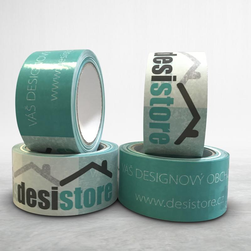 Reklamní balící lepící páska s potiskem Desi Store