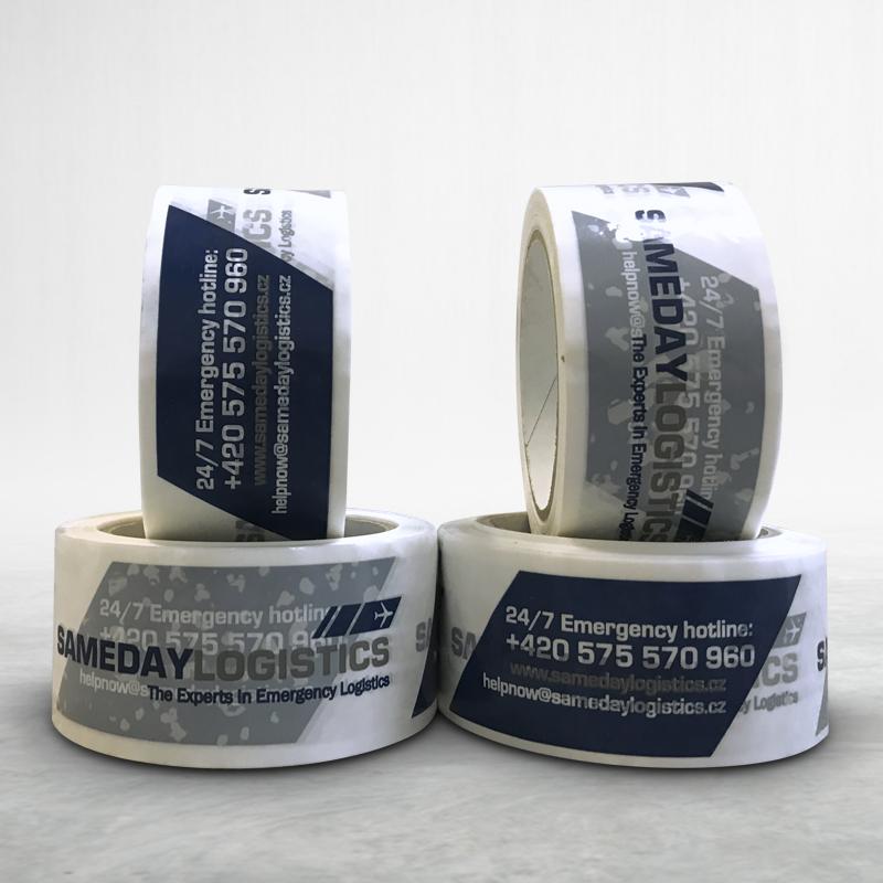 Reklamní balící lepící páska s potiskem Sameday Logistics