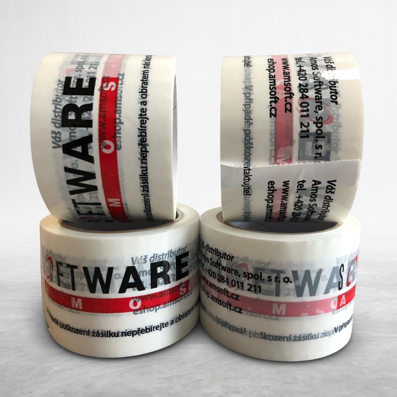 Reklamní lepící páska s potiskem